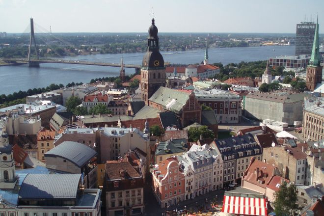 View of Riga from St Peter's Church Tower, Riga, Latvia