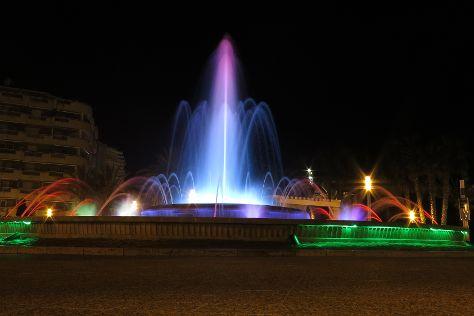 Illuminated Fountain, Salou, Spain